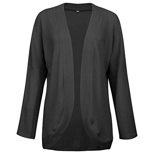 Mujer Casual Manga Larga Irregular Irregular sólido Cardigan suéter Regular Cárdigans