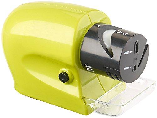 Rosenstein & Söhne Scherenschleifer: Elektrischer Messer- & Werkzeugschärfer mit extra feinem Schleifstein (Elektrische Messerschärfer)