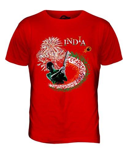 CandyMix India Cricket T-Shirt da Uomo Maglietta Rosso