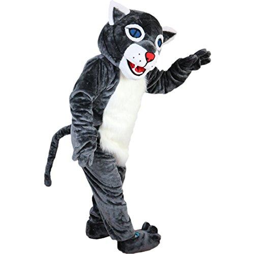 Langteng grau Wildcat Tiger Cartoon Maskottchen Kostüm Echt Bild 15-20Tage Marke (Tiger Maskottchen Kostüm)