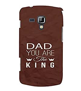 PrintVisa Dad Father Quotes Design 3D Hard Polycarbonate Designer Back Case Cover for Samsung Galaxy S Duos S7562