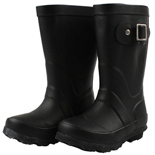 EN-FANT mixte bottes de pluie en caoutchouc, rouge orangé, taille 35, 812900U-12 noir