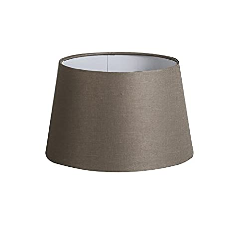 QAZQA Leinen Lampenschirm 25cm rund DS E27