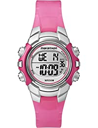 Timex Marathon Women's T5K808 Watch with LCD Dial Digital Display and Pink Resin Strap