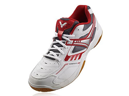 Victor SHW 503 D Badminton Shoes, US 11.5 (White/Red)