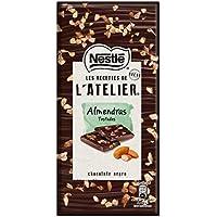NESTLÉ Les Recettes de LAtelier Chocolate Negro y Almendras Tableta - Paquete 16 x
