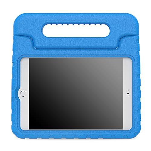 MoKo Hülle für iPad Mini 4 - Superleicht EVA Stoßfest Kinderfreundlich Kinder Schutzhülle mit umwandelbarer Handgriff Handle und Standfunktion für Apple iPad Mini 4 7.9 Zoll 2015 Genaration Tablet, Blau Ipad 2 3 4 Schaum Fall