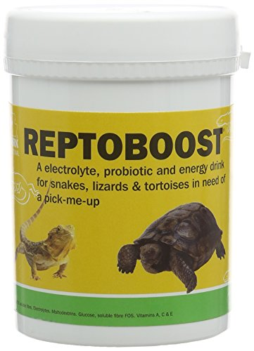 Vetark Reptoboost – A electrolyte, probiotic and energy drink for snakes, lizards & tortoises in need of a pick-me-up. Three sizes available