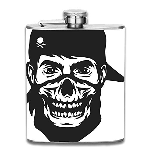 Perfect Pregame Flask-Guy In The Bandana - Cool 7 oz Stainless Steel and Alcohol Flask - For Men and Women - Drinking Flask for Liquor and Smokes