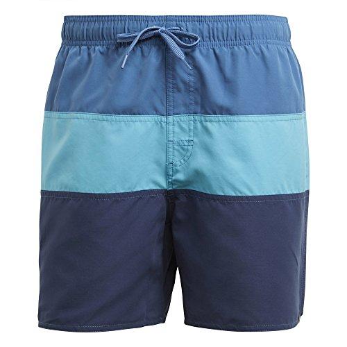 Shorts Schwimmen Adidas (adidas Herren Colorblock Short Length Badeshorts, Trace Royal/Bright Cyan/Noble Indigo, L)