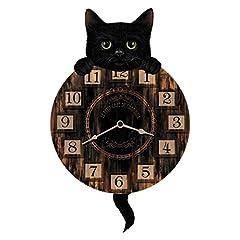 Idea Regalo - Tinas Collection Orologio da Parete, Orologio Shabby Chic da Parete, Orologio Muro, Orologio per Cucina (Lucky Cat)