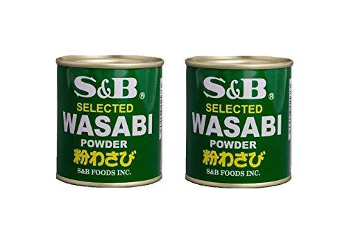 Pamai Pai Doppelpack: 2 x 30g Wasabi Pulver Wasabipaste Sushi grüner Meerrettich scharf