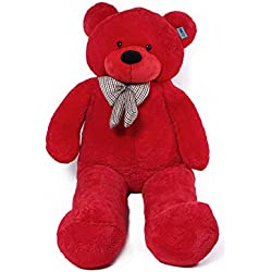 Joyfay Marca oso de peluche 100 - 200 cm gigante de la muñeca de juguete suave de la felpa de peluche oso de peluche de juguete oso peluche gigante peluches gigantes osos de peluche gigantes (160 cm, rojo)
