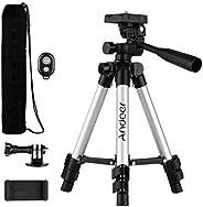 Andoer 65 cm Mini Treppiede Stand con Remote Phone Holder Sport Camera Mount Adapter Carry Bag per Live Stream