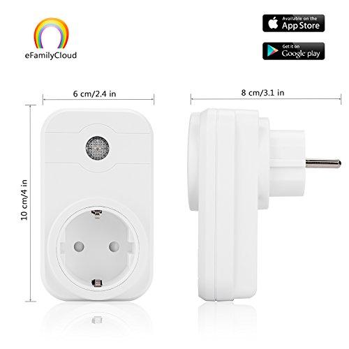 Smart Steckdose SWA1 Mini Smart Plug Wireless intelligente WLAN Steckdose funktioniert mit Amazon Alexa und Google Home mit App Steuerung für iOS und Android überall und zu jeder Zeit
