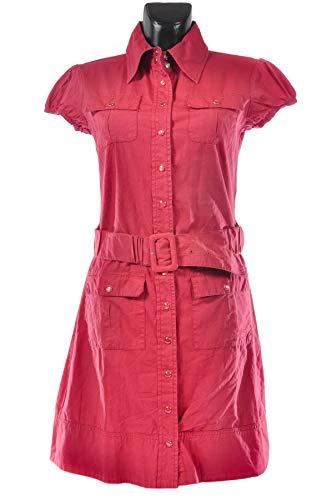 TOM TAILOR Gaucho Bluse Dress Damen Kleid Größe XS pink Knielang Gürtel NEU - Gaucho-kleid