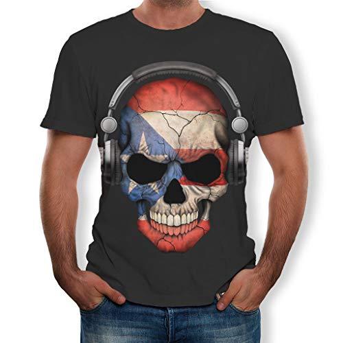 Cocoty-Store 2019 Camiseta de Calavera en 3D para Hombres Casual...