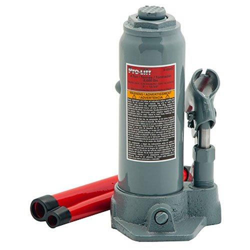 Pro-Lift B-004D Grey Hydraulic Bottle Jack - 4 Ton Capacity by Pro Lift