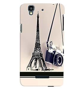 PrintVisa Travel Paris Camera 3D Hard Polycarbonate Designer Back Case Cover for Yu Yureka PlusYU5510A