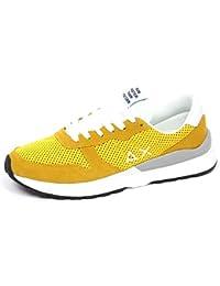 dc9e7df5f70 SUN 68 E8708 Sneaker Uomo Yellow Scarpe Suede Tissue Shoe Man