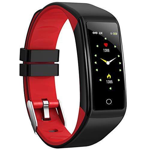 Fitness Armband Uhr, Elospy Wasserdicht IP67 Fitness Tracker Farbbildschirm Aktivitätstracker Schrittzähler Uhr mit Schlafmonitor Vibrationsalarm Anruf SMS Beachten für Damen Herren Kinder