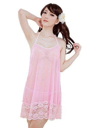 HJL Da donna Completi Indumenti da notte Rayon Nylon-Sexy Retrò Jacquard , blushing pink , one-size light blue