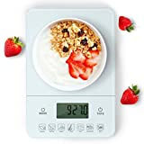 Aigostar Calorie Kitchen Scale 33LDF - Multifunction Food Scale, Calorie Counting,Weight Capacity up