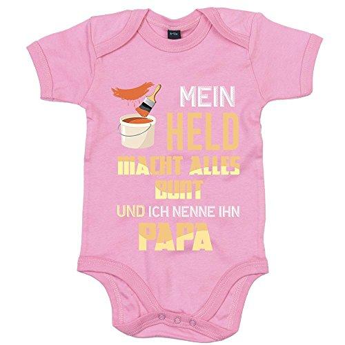 Maler Premium Babybody Berufe Follow Your Dreams Traumberuf Mädchen Kurzarmbody, Farbe:Rosa (Bubble Gum Pink BZ10);Größe:6-12 Monate