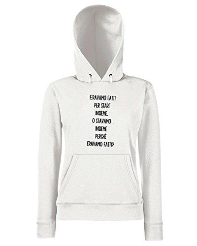 T-Shirtshock - Sweats a capuche Femme TDM00069 eravamo fatti per stare insieme Blanc