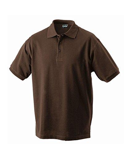 Herren Poloshirt Klassisches Polohemd mit Armbündchen Sport kurzarm Polo Shirts in verschiedene Farben Brown