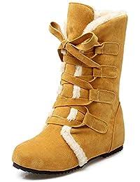 Amazon Mujer es Zapatos Piel Con Botas Para Y rTwqAHWr