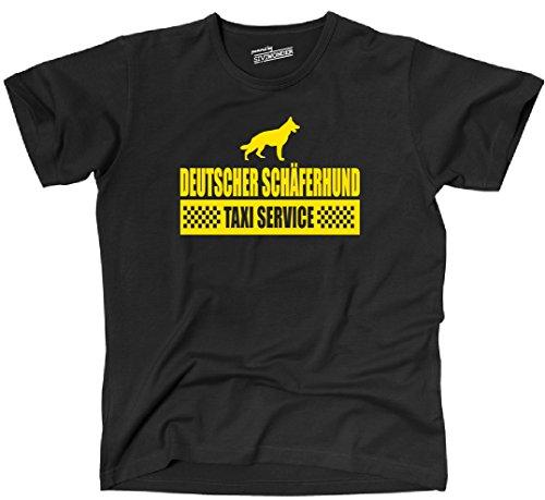 Siviwonder Unisex T-Shirt DEUTSCHER SCHÄFERHUND Taxi Service Hund Hunde lustig fun Schwarz