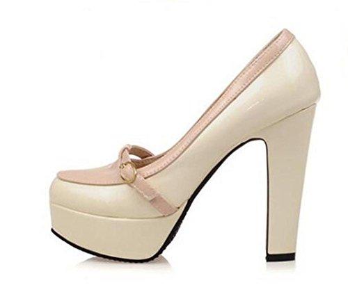 scarpe da donna di corte cintura colore elegante magia fibbia con ultra-tacco alto scarpe piattaforma impermeabile meters pink