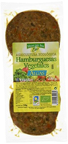 4 x Hijas Del Sol Bio Hamburguesa Vegetal de Algas - Paquete de 4