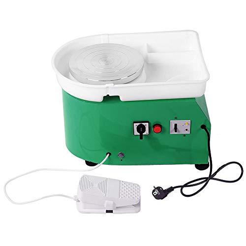 Tonwarenradmaschine, VBESTLIFE Keramikradmaschine 250W elektrische Keramik Wurfarbeit Töpferscheibe Tonformwerkzeug(Grün)