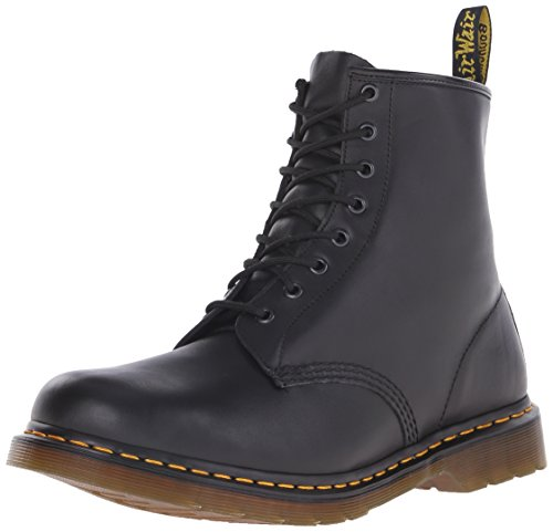 Dr. Martens - Stivali 1460 8 Eye Boot BROWN, Unisex - adulto, Nero (Black Nappa), 39 (Larghezza: F)