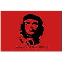 Bandera de Che Guevara henbrandt 152,4 cm x cm 91,44 con ojales (100% poliéster) para colgar