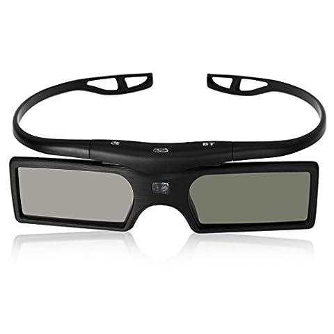 SODIAL(R) 3D Aktive Shutter Brille fuer PANASONIC TX-P42UT50E TX-P50UT50E TC-P42UT50 TX-P50GT50 TX-P50GT50E TX-P42GT50 TX-P50VT50E TC-P50GT30 3D TV-schwarz