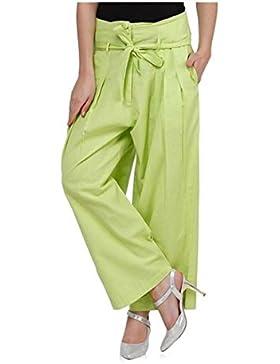 Indian Handicrfats Export Sizzlacious Regular Fit Women's Green Trousers
