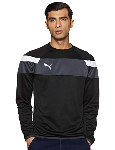 PUMA Herren Sweatshirt Spirit II Training Sweat, black-White, L