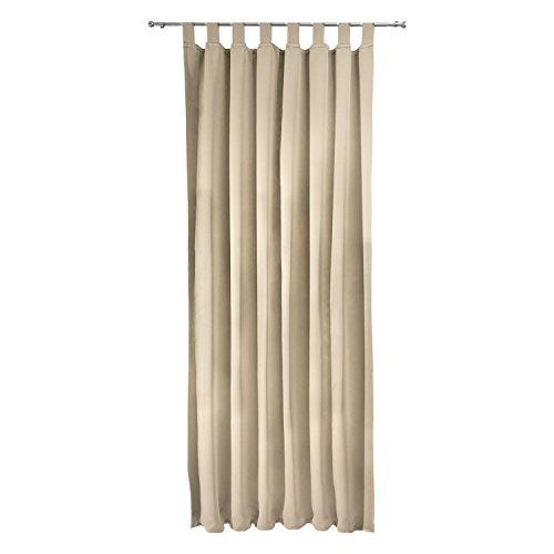 Beautissu tenda oscurante con passanti serie amelie bs - 140x245 cm crema - protegge dal sole - per balconi e finestre