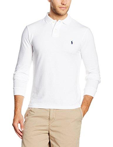 Polo Ralph Lauren Herren Poloshirt Ls Kc Slimfit Ppc Weiß (WHITE A1000)
