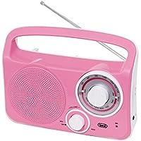 Trevi Retro AM / FM Radio. Mains / Battery (Pink)
