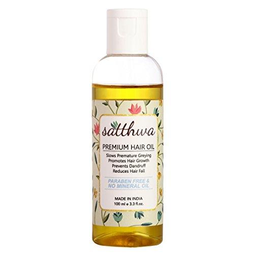 satthwa Premium Haar Öl für Männer und Frauen (100ml) (Überschüssiges Haarwachstum)