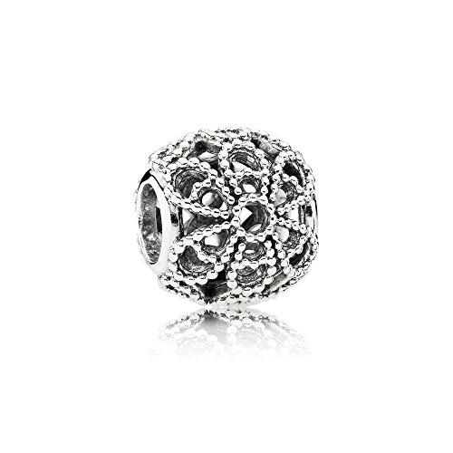 Pandora Moments Offen gearbeitetes Metallperlen-Blüten-Charm Sterling Silber 791282