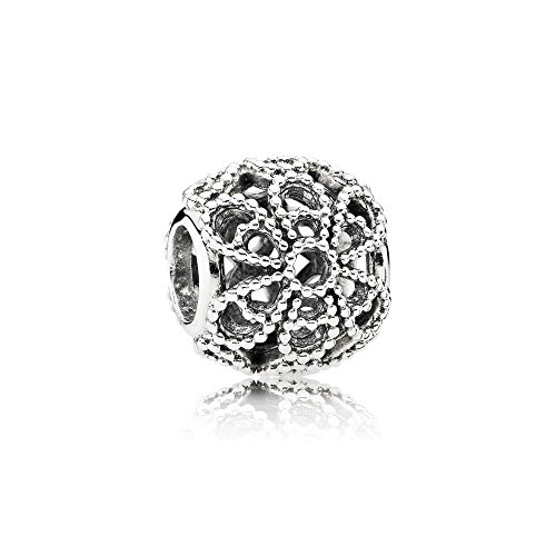Pandora Silber Charm offene Rose 791282 - Perlen Armband Charm Pandora