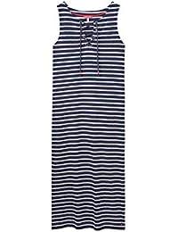 ea35c99dec Joules Ladies Anita Navy Stripe Tie Neck Jersey Dress 8