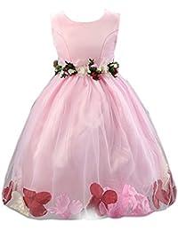 Free Fisher Mädchen Prinzessin Kleid mit Blumenblatt