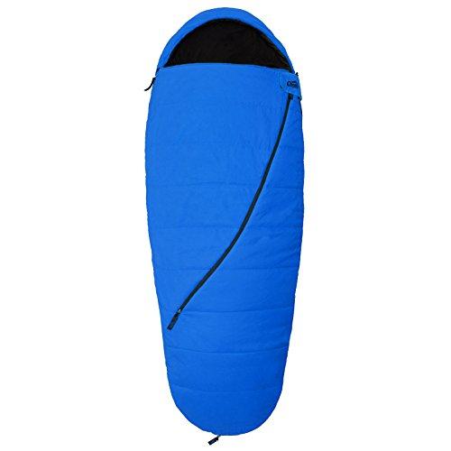 Mumienschlafsack Qeedo - Buddy Schlafsack in Eiform, Extra Breite 90 cm - Blau