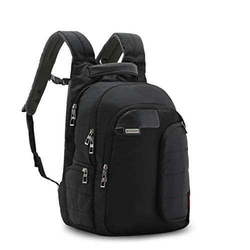 Harissons Bags Vervo 15.6-inch Laptop/Travel/Casual Backpack for Men and Women with rain Cover (Black, 40 Ltrs) Image 3